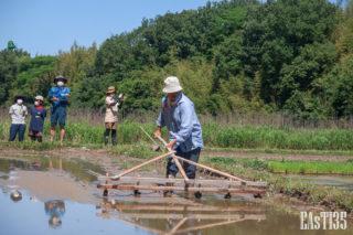 桶谷式農具で準備
