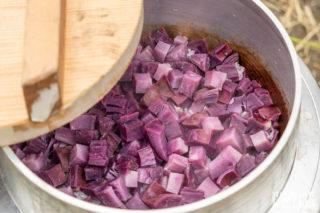 紫芋アフター