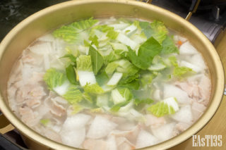 鮮やかな白菜